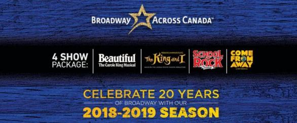 Broadway Across Canada Contest – Stand Chance To Win Tickets To ALL Of The Ottawa Broadway Shows