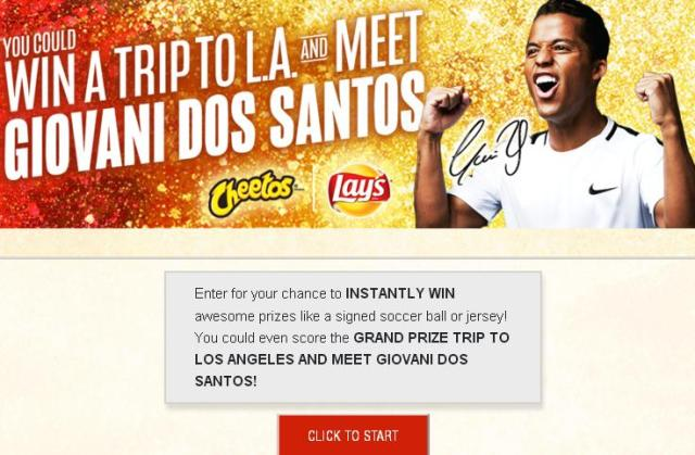 Cheetos & Lay's Soccer Instant Win Game – Stand Chance To Win A Trip To Los Angeles, California