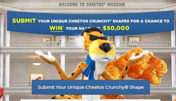 Cheetos Museum Contest - Chance To Win $25,000 CAD Cash, A $100 Amazon.ca Gift Card