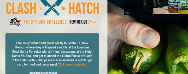 Clash of the Hatch Sweepstakes - Chance To Win a Trip For Two To Santa Fe, New Mexico