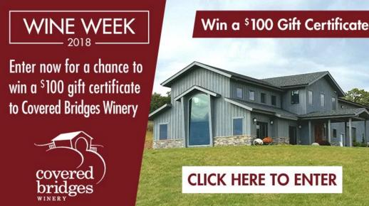 Covered Bridges Winery Sweepstakes – Stand Chance To Win A $100 Covered Bridges Winery Gift Card