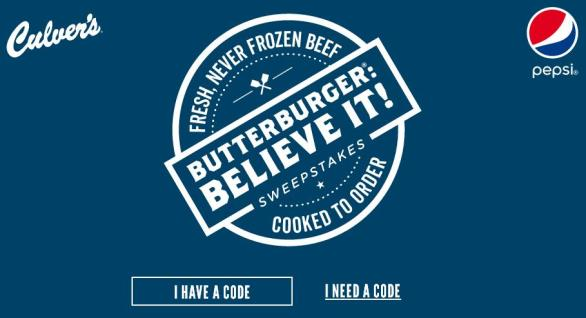 Culver's Butterburger Believe It Sweepstakes – Stand Chance to Win $25,000 Grand Prize