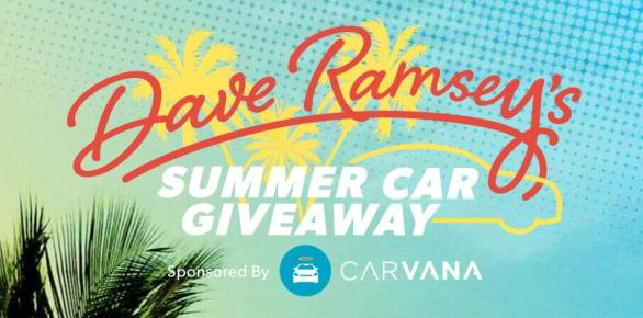 Dave Ramsey's Summer Car Giveaway – Stand Chance to Win Automobile & $2,000 USD Prize