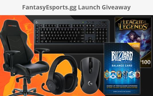 FantasyEsports.gg Launch Giveaway – Stand Chance To Win Gaming Mouse, Gaming Keyboard, Gaming Headset, Gaming Chair, $100 Gift Card