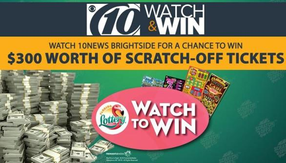 Florida Lottery Watch to Win Sweepstakes – Stand Chance To Win $2.00 Florida Lottery Scratch Off Tickets, $100 Electronics Store Gift Cards