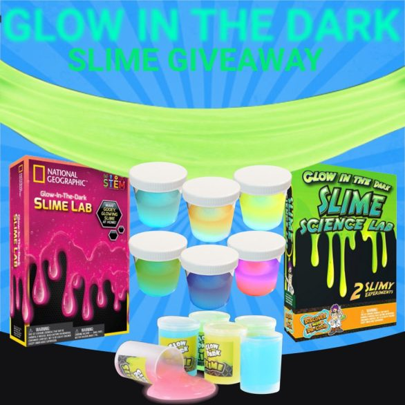Glow in the Dark Slime Giveaway-Enter To Win 10 Slime Kit