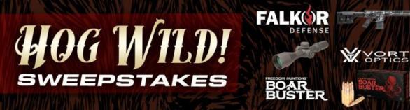 HOG WILD Giveaway – Stand Chance to Win Alpha Rifle, Vortex Optics Razor HD GenII, 300rds Boar Buster and Televised Hog Hunt
