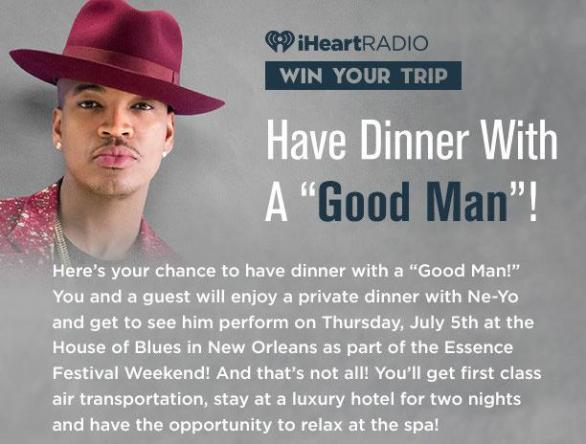 iHeartRadio Have Dinner With A Good Man Sweepstakes – Stand Chance To Win A Trip For Two To New Orleans