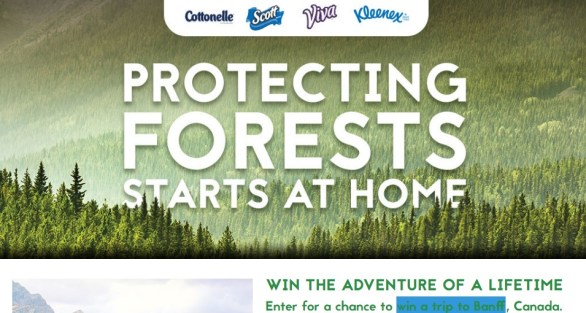 Kimberly Clark Heart Your Planet Sweepstakes - Enter To Win A Trip To Banff, Lake Louise