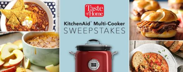 Taste of Home Multifunctional Cooker Sweepstakes – Stand Chance to Win A KitchenAid 4-Quart Multi-Cooker