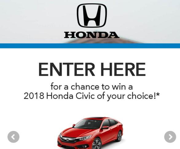 The 2018 Honda Stage at Music Festivals Sweepstakes – Stand Chance To Win A Honda Civic Coupe EX-L, Hatchback EX-L, Sedan EX-L, $10,000 Cash
