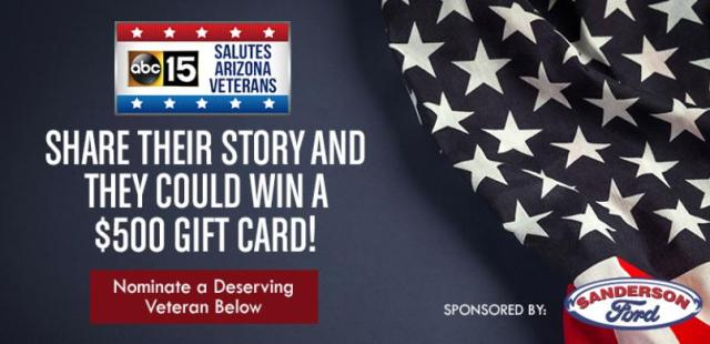 Sanderson Ford Salutes Arizona Veterans Contest – Stand Chance to Win $500 Visa Gift Card