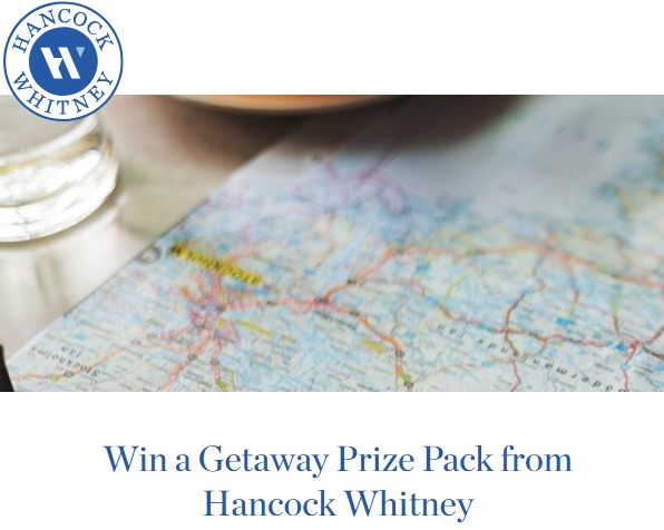 Hancock Whitney Travel Prize Package Giveaway - Chance To Win A Getaway Prize Pack Rolling Bags, Backpacks