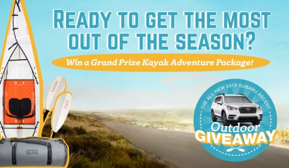 Subaru Ascent Outdoor Adventure Sweepstakes - Chance To Win Kayak Adventure Package