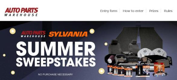 Auto Parts Warehouse Sylvania Summer Sweepstakes – Stand Chance To Win Sylvania Safety Prize Package