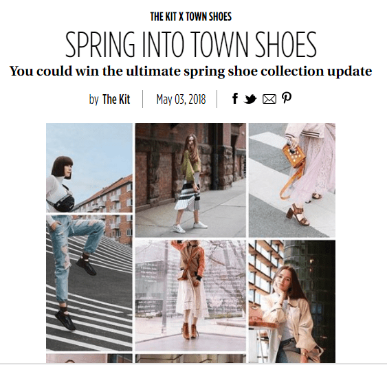 The Kit Spring into Town Shoes Contest - Chance To Win $500 Gift Card