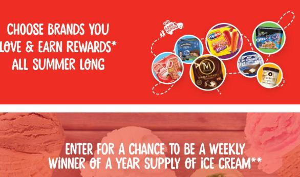Unilever Summer Ice Cream Giveaway & Sweepstakes – Stand Chance to Win A $260 Safeway/Albertsons Gift Card