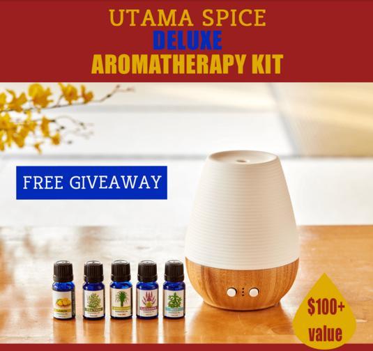 Utama Spice Deluxe Aromatherapy Kit Giveaway – Stand Chance To Win Deluxe Aromatherapy Kit