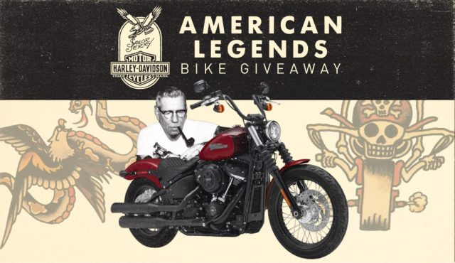 The American Legends Bike Giveaway 2018 – Chance To Win Custom-Painted 2018 Harley-Davidson Street Bob Motorcycle