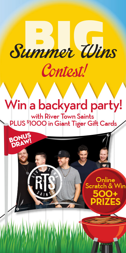 Giant Tiger Big Summer Wins Contest-Enter To Win A Backyard Party, $1000 Gift Card