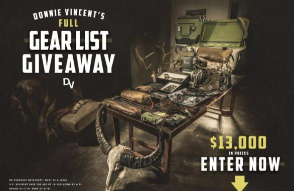 Donnie Vincent Full Gear List Giveaway – Stand Chance To Win Grand Prize