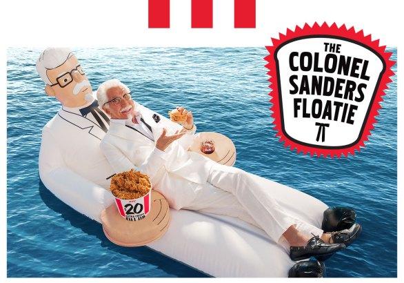 KFC Colonel Sanders Floatie Giveaway - Chance To Win Colonel Sanders Floatie