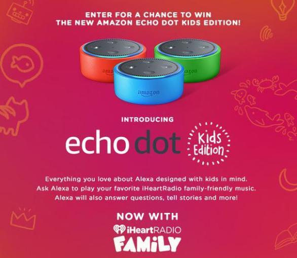 iHeartRadio & Amazon Giveaway Sweepstakes – Stand Chance To Win Amazon Echo Dot Kids Edition
