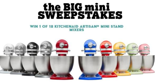 Yummly & KitchenAid Mini Stand Mixer Sweepstakes – Stand Chance To Win KitchenAid Artisan Mini Stand Mixer