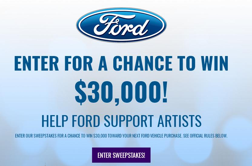 Bygmusic 2018 BYG Ford Sweepstakes – Stand Chance To Win 30k Towards A New Ford