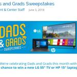 Dad And Grads Sweepstakes – Stand Chance To Win A LG 55 4K UHD LED Smart TV, HP Laptop
