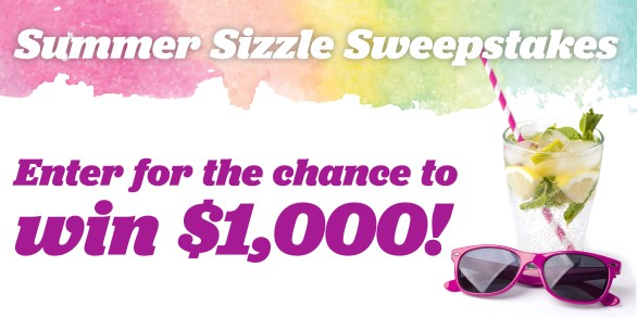Summer Sizzle Sweepstakes - Enter To Win $1,000 USD Check