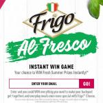 Frigo Al Fresco Instant Win Game Sweepstakes – Stand Chance to Win Outdoor Dining Set