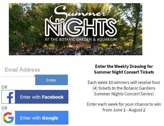 Summer Nights Concert Series Ticket Giveaway – Win Tickets