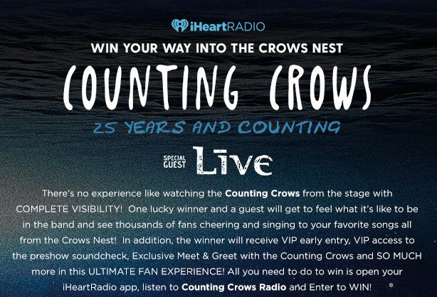 iHeartRadio Your Way Into The Crows Nest Sweepstakes – Stand Chance To Win Your Way Into The Crows Nest