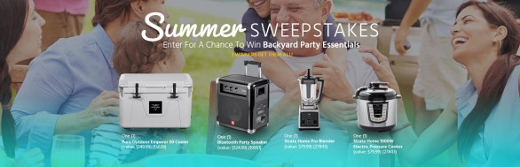 Pure Outdoor Summer Sweepstakes - Chance To Win Backyard Party Essentials