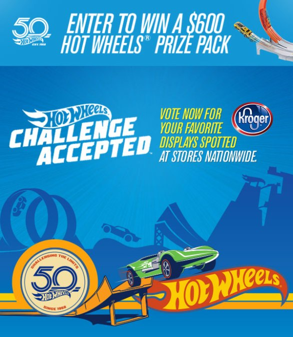Kroger Hot Wheels Sweepstakes - Chance To Win $600 Hot Wheels Prize Pack