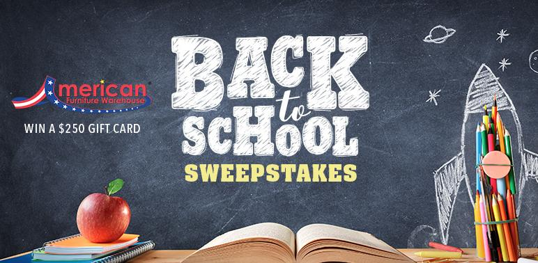 American Furniture Warehouse Back To School Sweepstakes