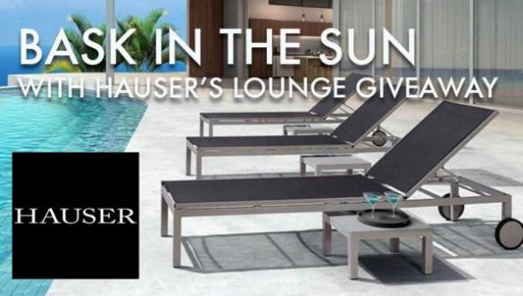 Bask In The Sun With Hauser's Lounge Giveaway – Chance To Win Two Metro Arm Chairs And One Metro Chaise Lounge Courtesy Of Hauser