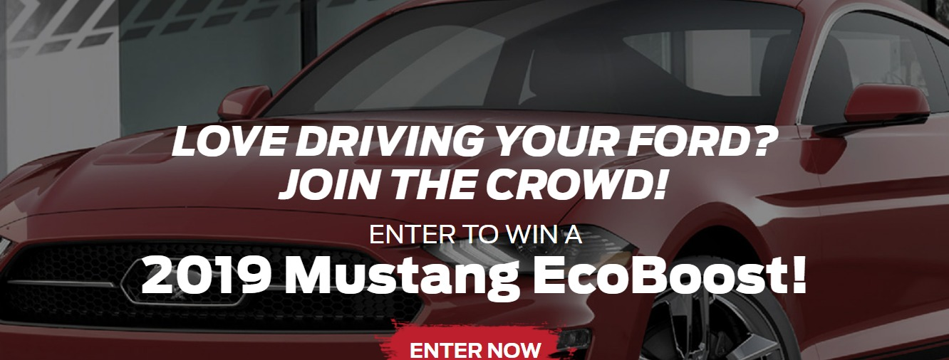 Ford Performance Club Connect Sweepstakes - Enter To Win A 2019 Ford Mustang EcoBoost Premium