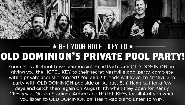 Get Your Hotel Key To Old Dominion's Private Pool Party Sweepstakes – Stand Chance To Win A Trip To Nashville