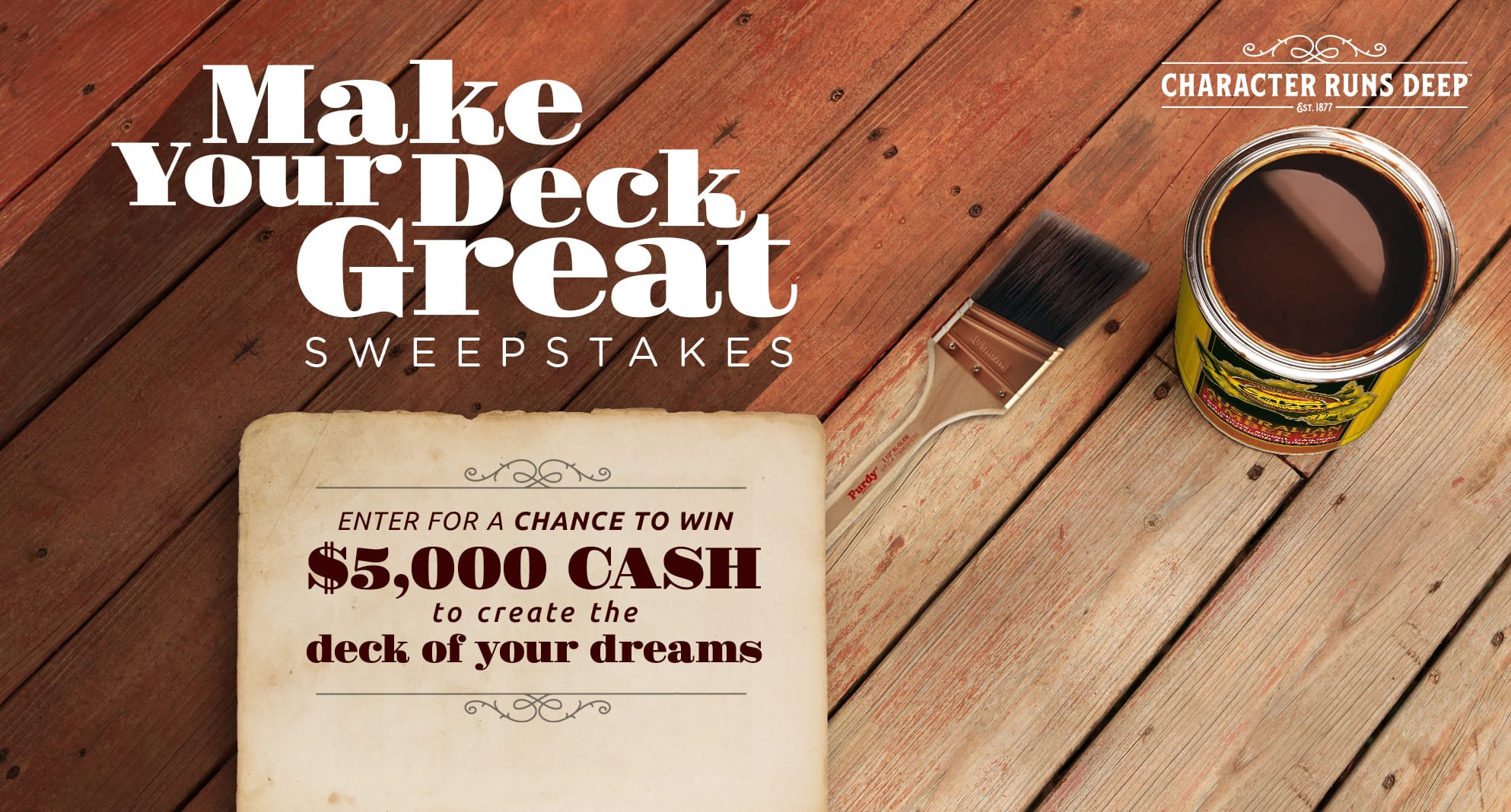 HGTV Make Your Deck Great Sweepstakes - Stand A Chance To Win $5000 Cash