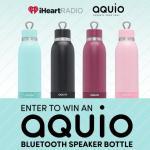 iHeartRadio & Aquio Bottle/iHome Giveaway Sweepstakes – Chance To Win Aquio Bluetooth Speaker Bottle