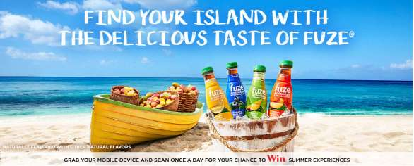 Fuze Summer Sip & Scan Sweepstakes - Enter To Win A Fuze Island Hop Trip For Two