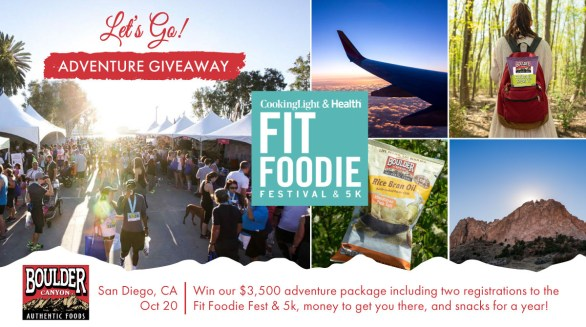 Boulder Canyon Fit Foodie Run Denver Getaway Contest - Chance To Win Tickets To Fit Foodie Run in San Diego