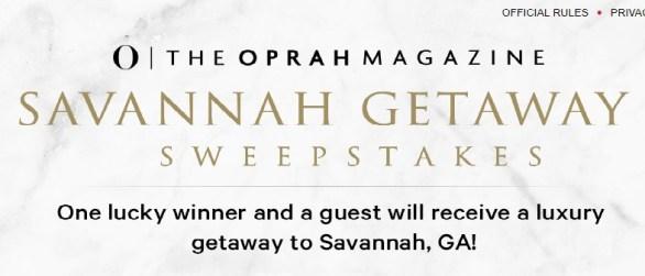 Oprah Magazine Savannah Getaway Sweepstakes - Enter To Win A Luxury Gateway To Savannah