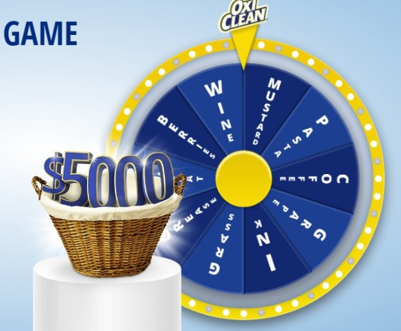 Oxi Clean Stain Game - Stand A Chance To Win $5,000 Check