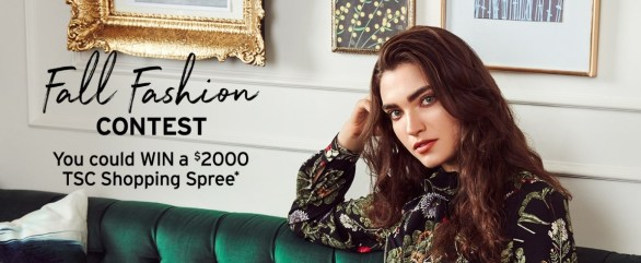 The Shopping Channel Fall Fashion Contest - Chance To Win $2000 CDN Gift Card