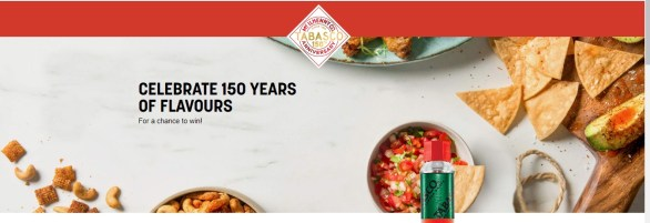 Tabasco Sauce 150 Years Contest - Stand To Win A Trip To Lyon