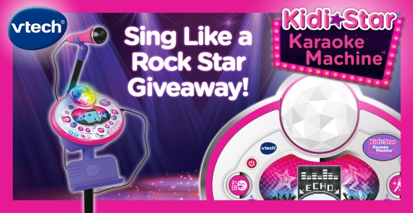 VTech Sing Like a Rockstar Contest - Enter To Win One Kidi Star Karaoke Machine