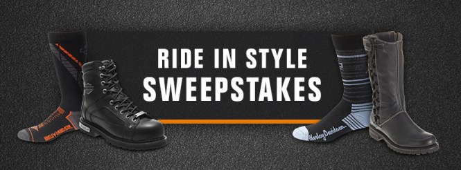Harley-Davidson Ride In Style Sweepstakes - Chance To Win A Free Pair Of Boots And Socks